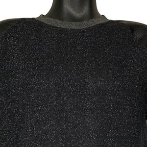 CARBON Men's [M] Sweatshirt With Leather Sleeves